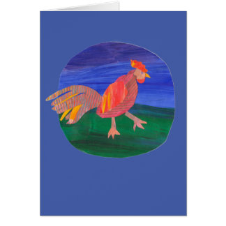 Rooster Greeting Card, Farm, Chicken, Personalize Card