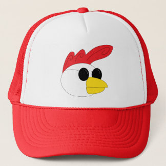 Rooster Head Trucker Hat