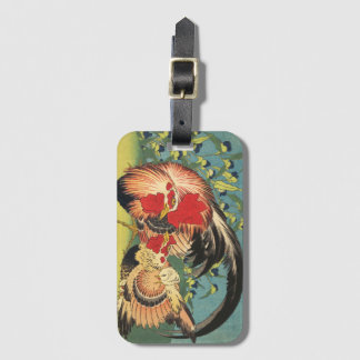 """""""Rooster, Hen and Chicken"""" Luggage Tag"""