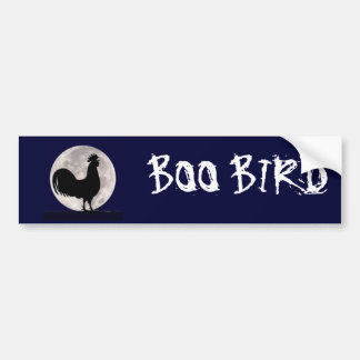Rooster in the Moonlight Bumper Sticker