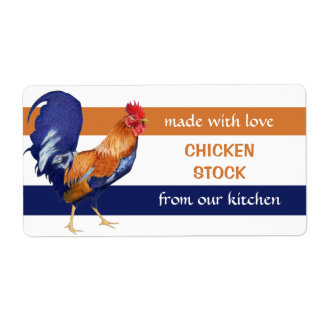 Rooster Kitchen Preserves Label Shipping Label