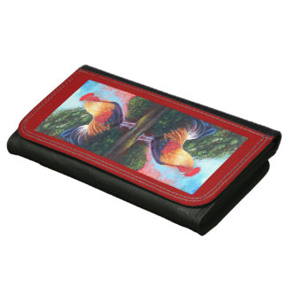Rooster Large Leather Wallet