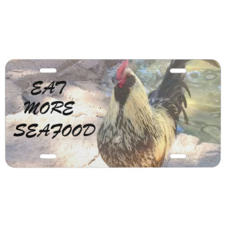Rooster License Plate