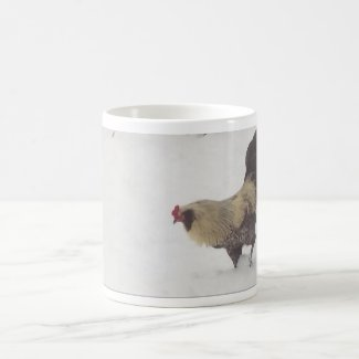 Rooster Mug - Mumble in the Snow (Classic Mug)