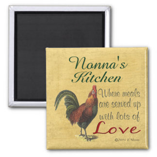 Rooster Nonna's Kitchen Refrigerator Magnet