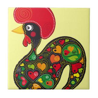Rooster of Barcelos Nr02 - Galo de Barcelos Tile