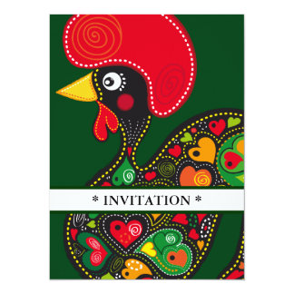 Rooster of Barcelos Nr 02 Invitation
