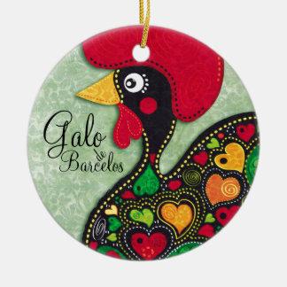 Rooster of Portugal - Galo de Barcelos Ceramic Ornament