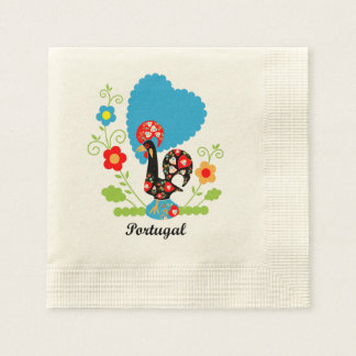 Rooster of Portugal Paper Napkins