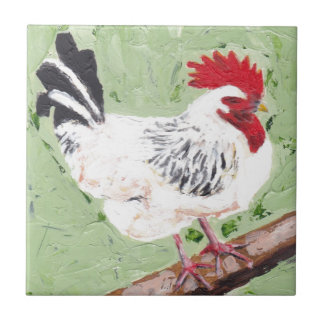 Rooster on Beam Tile