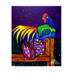 Rooster on Fence by Piliero