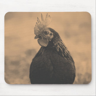 Rooster Portrait Mouse Pad