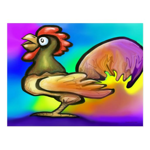 Rooster Post Card