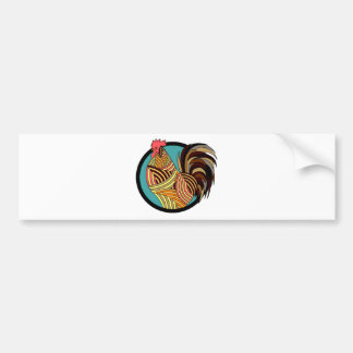 rooster poultry animal farm bumper sticker