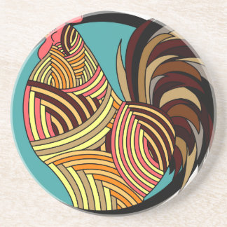 rooster poultry animal farm coaster