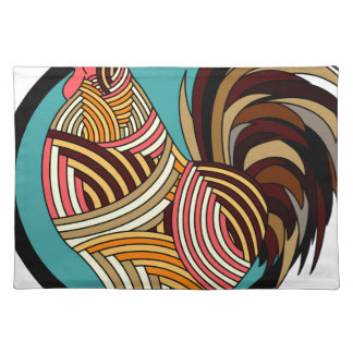 rooster poultry animal farm placemat