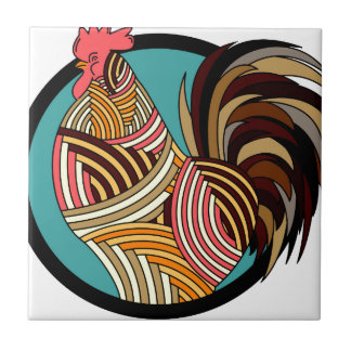 rooster poultry animal farm tile