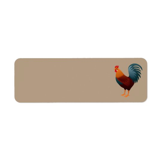 ROOSTER REALISTIC CARTOON ADDRESS LABELS