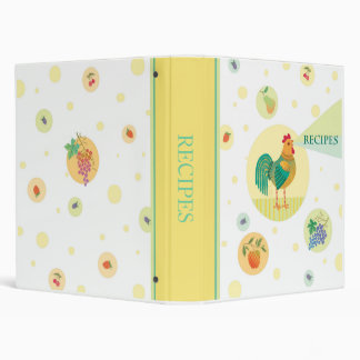 Rooster recipes 3 ring binder