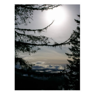 Rooster Rock Sunset under clouds Postcard