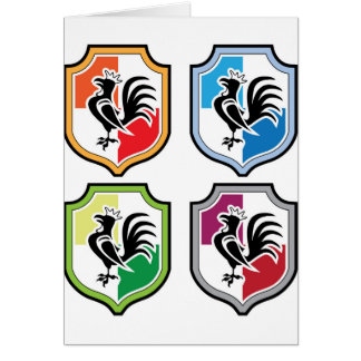 Rooster Shield Logo Card