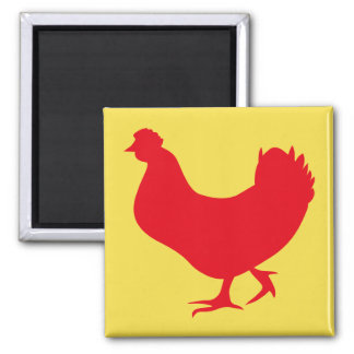 Rooster Silhouette Magnet