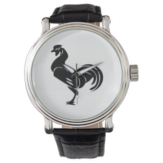 Rooster silhouette watch