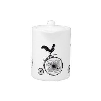Rooster Sitting on Vintage Bicycle