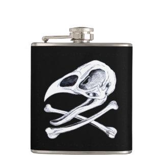 Rooster Skull and Crossbones Flasks