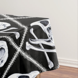 Rooster Skull and Crossbones Tablecloth