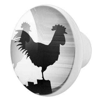 Rooster Sunrise Ceramic Knob