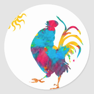Rooster the King of the BarnYard Round Sticker