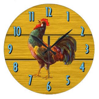 Rooster Vintage Art Kitchen Clock