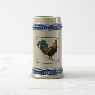 Rooster w/feather frame 22 oz mug