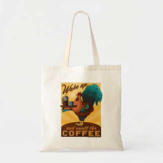 Rooster - Wake up and Smell the Coffee Budget Tote Bag