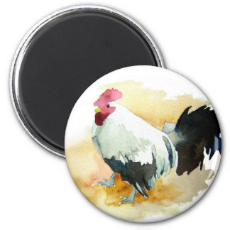 Rooster with an Attitude 2 Inch Round Magnet