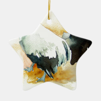 Rooster with an Attitude Ceramic Star Ornament