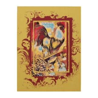 Rooster Wooden Wall Hanging Wood Wall Decor
