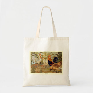 Roosters and hens tote bag