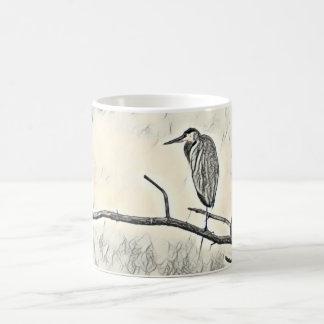 Roosting Heron Coffee Mug