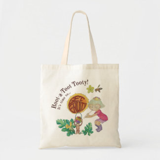 Root A Toot Tooty! natural canvas tote bag