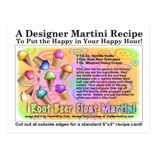 Root Beer Float Ice Cream Martini Recipe Postcard