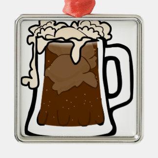 Root Beer Float Metal Ornament