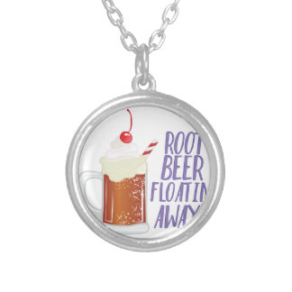 Root Beer Floatin Silver Plated Necklace