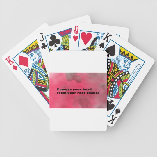 Root Chakra Bicycle Playing Cards