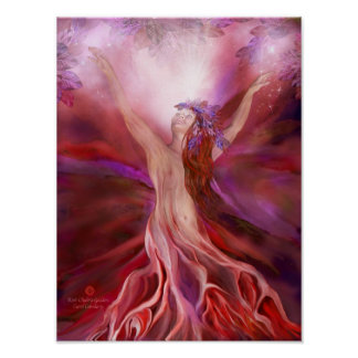 Root Chakra Goddess Fine Art Poster/Print Poster