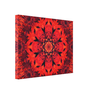 Root Chakra | Lotus Flower | Mandala Canvas Print