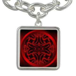 Root Chakra Mandala Charm Bracelet