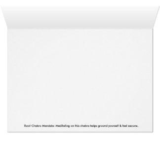 Root Chakra Mandala Greeting Card