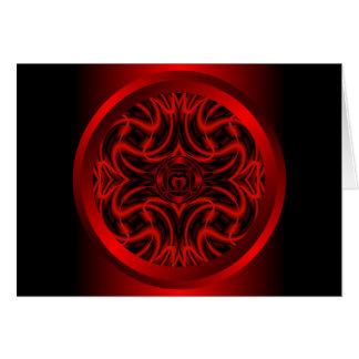 Root Chakra Mandala Note Card